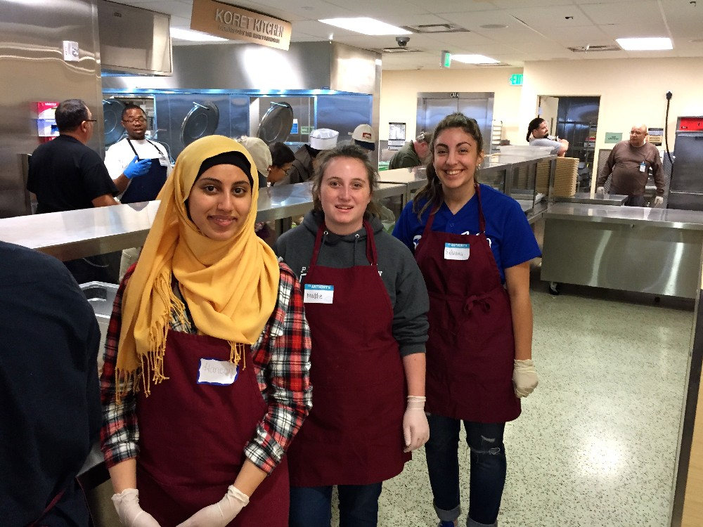 Haneen & Silvana helping serve 2400 people